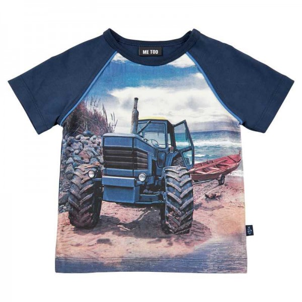 Metoo Traktor Kurzarm T-Shirt blau