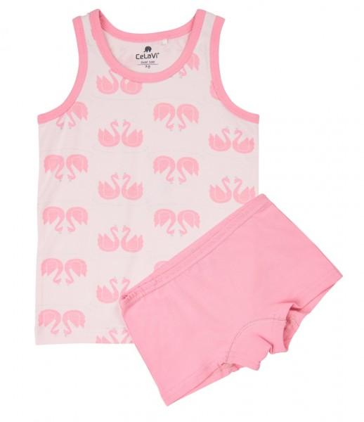 Celavi Mädchen Unterwäsche Set Schwäne rosa