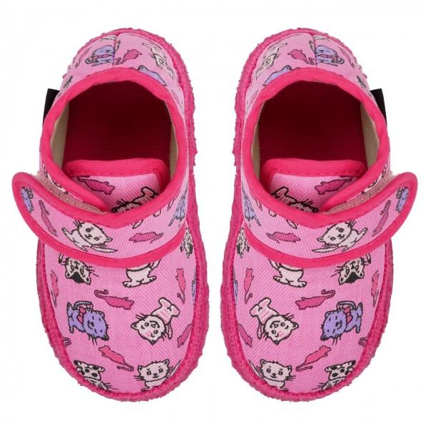 Nanga Mädchen Hausschuhe Kätzchen pink Bio-Baumwolle