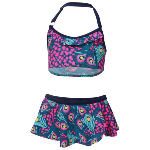 Color Kids Mädchen Bikini TRACY mit Pfauen-Print