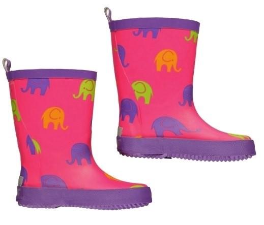 CeLaVi Mädchen Gummistiefel pink/lila mit Elefanten