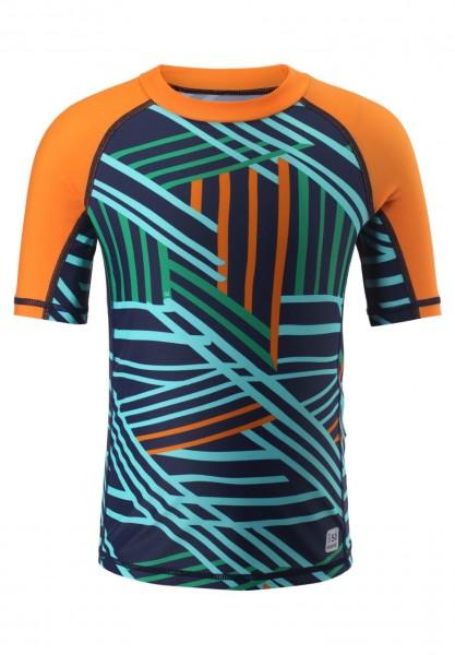 Reima Kinder UV Schwimmshirt Fiji navy/orange UV-Schutz 50+