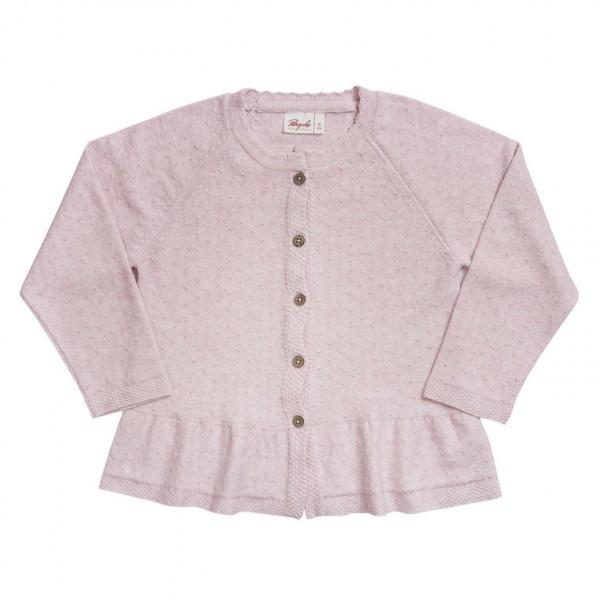 People wear Organic Mädchen Strickjacke Ajour rosa Bio-Baumwolle