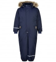 Minymo Schneeanzug dunkelblau wasserdicht uni