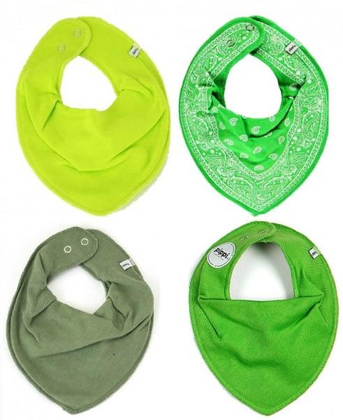 Pippi Baby Dreieckstücher alles grün 4er Set