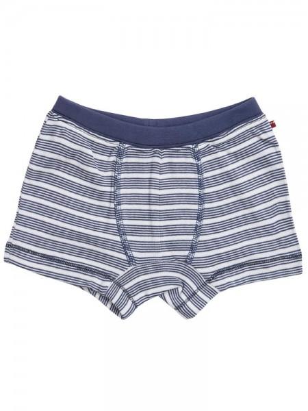 Jungen Slip Unterhose weiß/blau gestreift Bio-Baumwolle