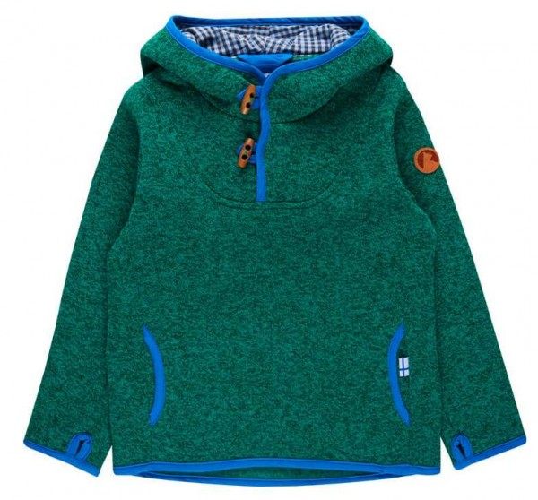 Finkid JUSSI SPORT emerald melange/french Kapuzenpulli Strickfleece Hoodie