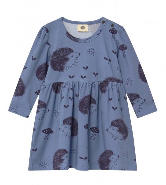 Walkiddy Kleid Igel Happy Hedehogs jeansblau Biobaumwolle