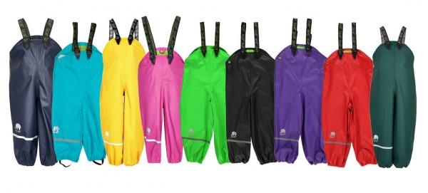 Celavi Kinder Regenhose wasserdicht mit Trägern