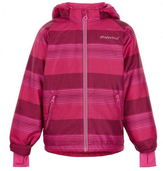 MINYMO Kinder Winterjacke Le90 vivacious rot pink gestreift