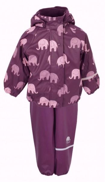 CeLaVi Mädchen Winter Regenanzug violett/rosa Elefanten