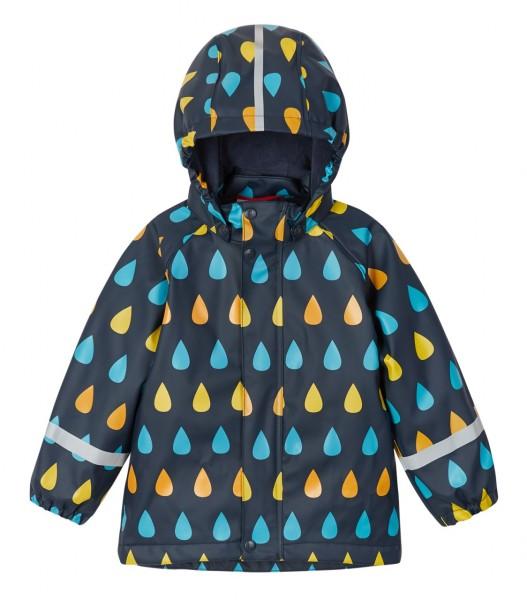 Reima Koski Kinder Regenjacke Aquatic mit Fleecefutter