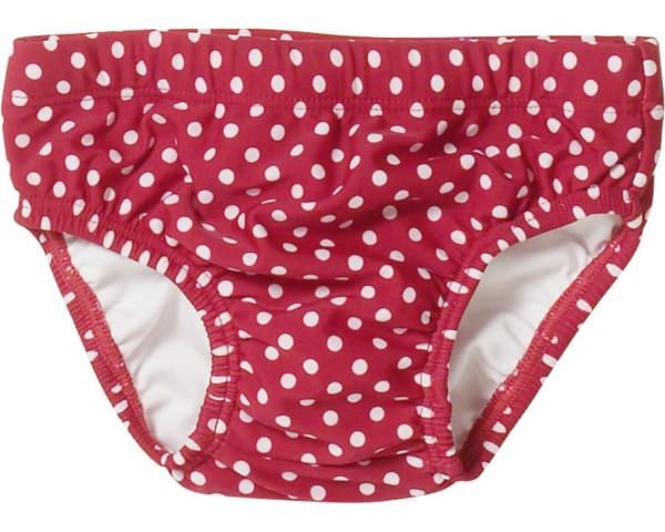 Baby Schwimmwindel rot mit weißen Pünktchen