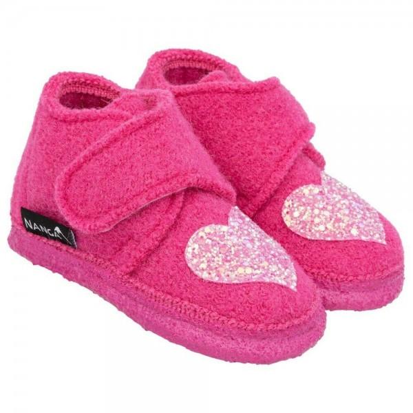 Nanga Hausschuhe Heartbeatz pink Schurwolle