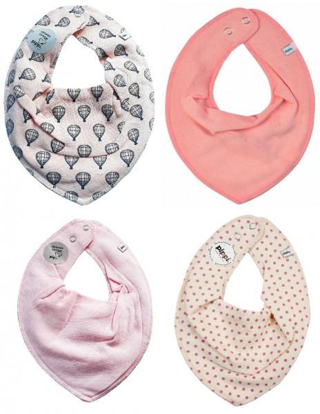 Pippi Mädchen Halstücher rosa Dots + Heißluftballons
