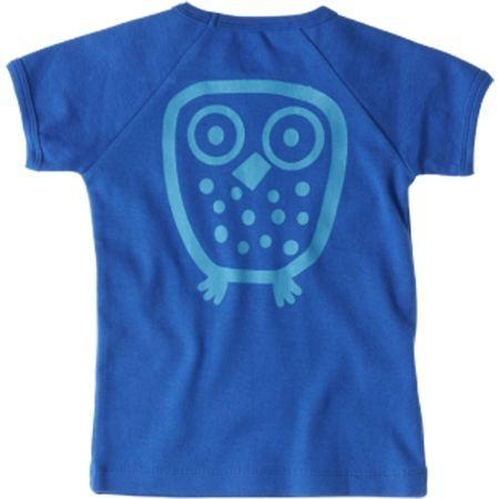 Ej sikke Lej Kinder T-Shirt Big Owl Basic royal blue