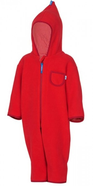 Finkid Puku Fleeceoverall fire/red