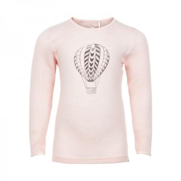 Celavi Wollshirt apricot-rosa mit Ballon Unterhemd Merino Schurwolle