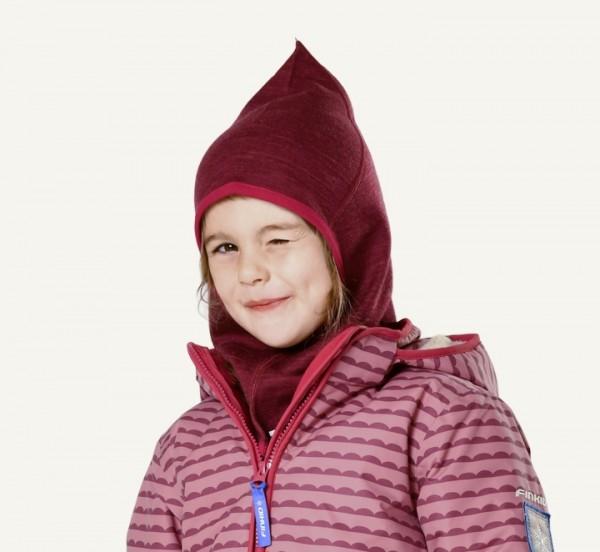 Finkid LUOLA Schlupfmütze cabernet/persian red Mädchen Wintermütze