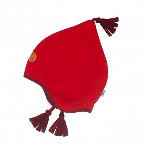 Finkid Pipo red/cabernet Winter Fleecemütze mit Baumwollfutter