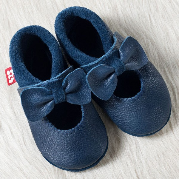Pololo Mädchen Ballerina Hausschuhe blau