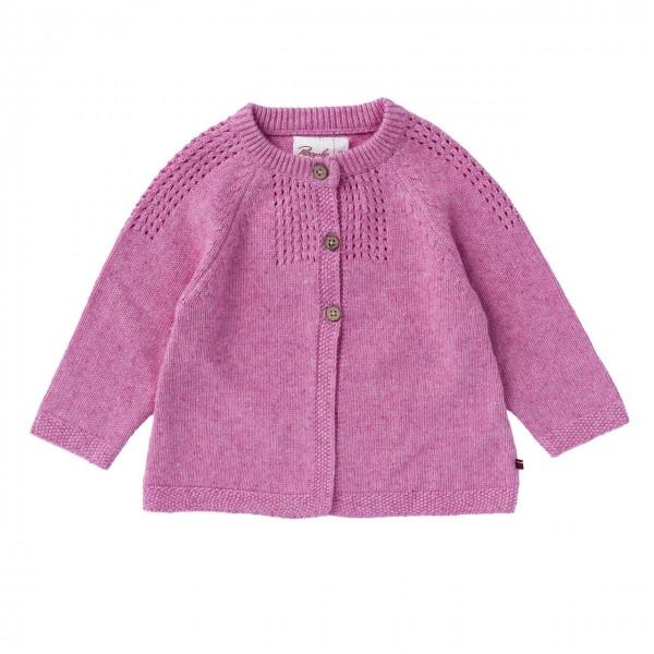 Baby Mädchen Strickjacke pink melange Bio-Baumwolle