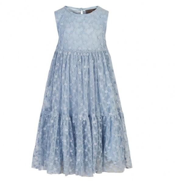 Creamie Mädchenkleid hellblau Tüllstickerei festlich