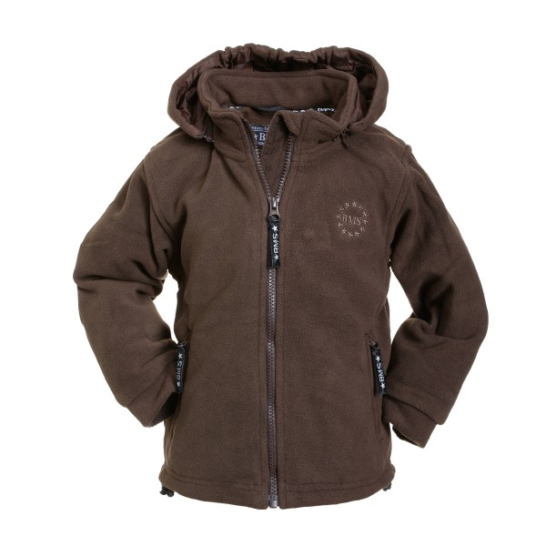BMS Fleecejacke braun Antarctic-Fleece mit Kapuze
