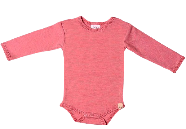 Celavi Baby Wollbody pink melange