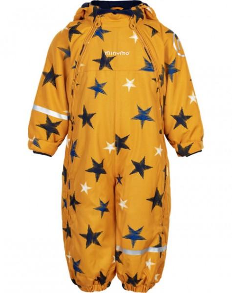 Minymo Thermo Schneeanzug Yellow Star OXFORD Doppelzipper