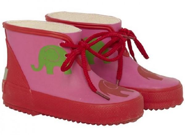 CeLaVi Regen Booties pink/rot Elefant Kurzschaft Gummistiefel Kautschuk