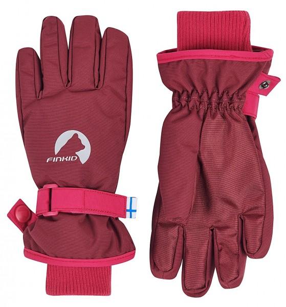 Finkid PIKKURILLI cabernet/persian red wasserdichte Handschuhe