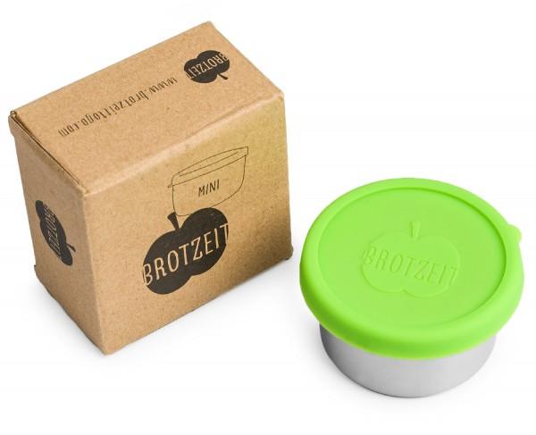 Brotzeit Edelstahl Dose mit Silikondeckel auslaufsicher MINI Lunchbox