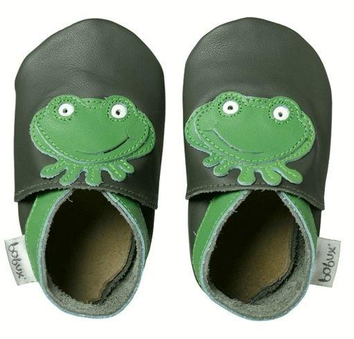 Bobux Leder Hausschuhe Frosch grün