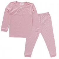 Mädchen Schlafanzug rosa Dots Pyjama Bio-Baumwolle