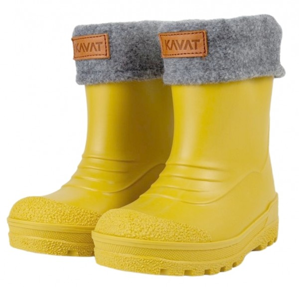 Kavat GIMO bright yellow Winter Thermo Gummistiefel zitronengelb mit Wollfutter
