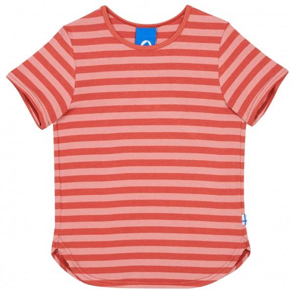 Finkid Maalari Blockstreifen T-Shirt chili / peach