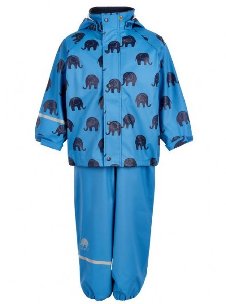 CeLaVi Regenanzug mittelblau / navy Elephants Set Regenhose + Regenjacke