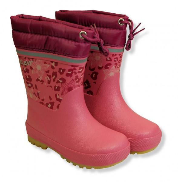 CeLaVi Leo Rose pink Thermo Winter Gummistiefel aus Kautschuk gefüttert
