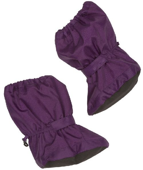 Minymo Nylon Thermo Booties Bing43 purple - gefütterte Stiefelchen Footies