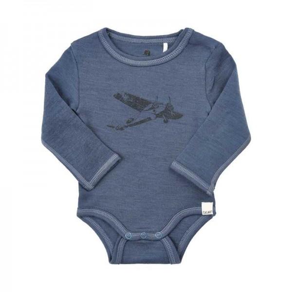 Celavi Body Wolle Flugzeug jeansblau melange
