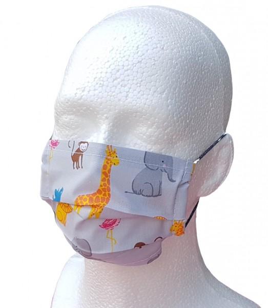 Kinder Mund- und Nasen-Maske ZOOTIERE ( 1-lagig )