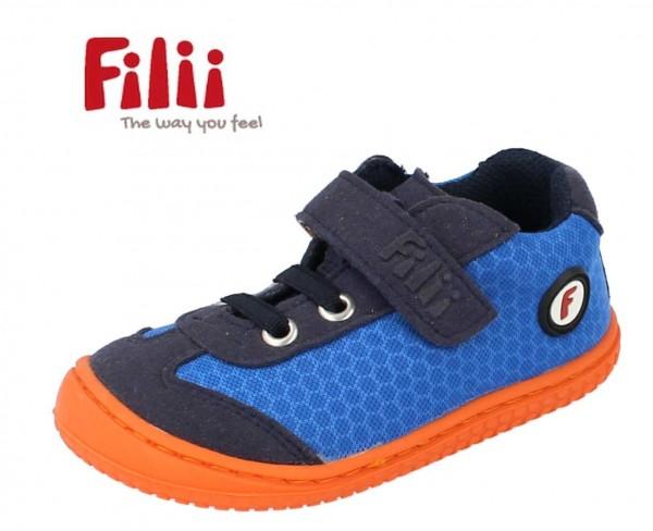 Filii Salimander blau/orange Kinder Barfußschuhe vegan