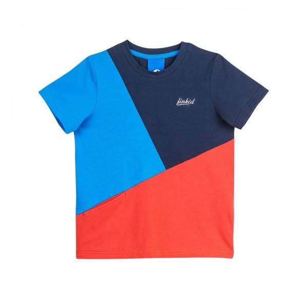 Finkid ANKKURI T-Shirt navy/red Kurzarm Colorblocking