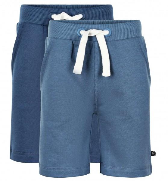 Minymo Shorts 2er Pack navy/blau Sweatshorts