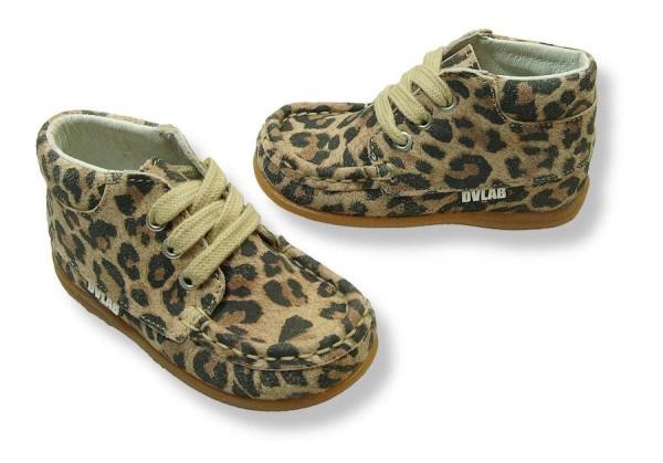 Develab Lauflernschuhe Leder extra weich Mokassins beige Fantasy Leopard
