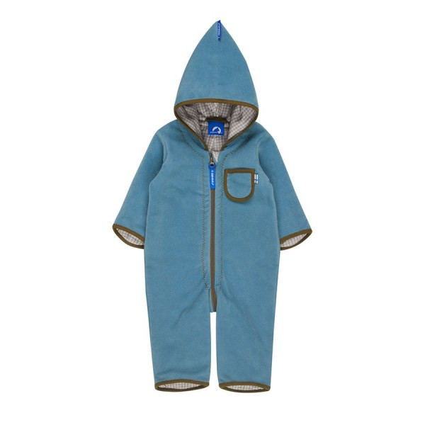 Finkid Puku Fleeceoverall smoke blue/capers