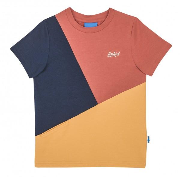 Finkid ANKKURI T-Shirt rose beet red Kurzarm Colorblocking