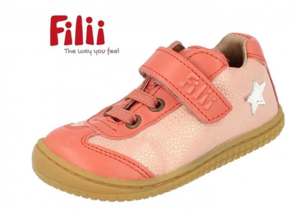 Filii Salimander coral Mädchen Sneaker Barfußschuhe Leder