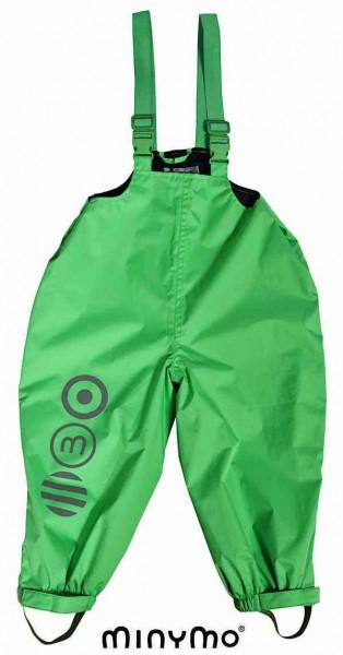 Minymo Baby Regenhose mit Trägern grün Eli04 atmungsaktiv